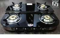 4 Burner Double Decker Glass Top