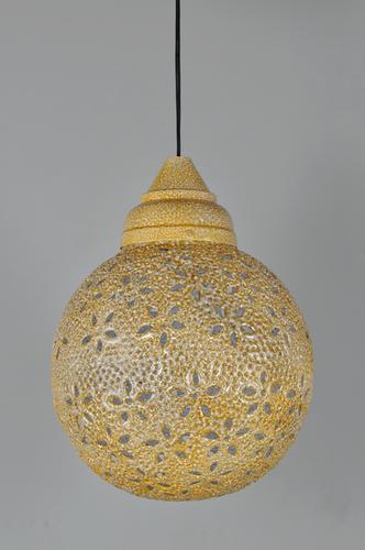 STAR CUT YELLOW PENDANT LAMP