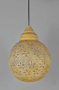 STAR CUT YELLOW PENDANT LAMP