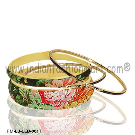 Bloom Manibus- Leather bangle set
