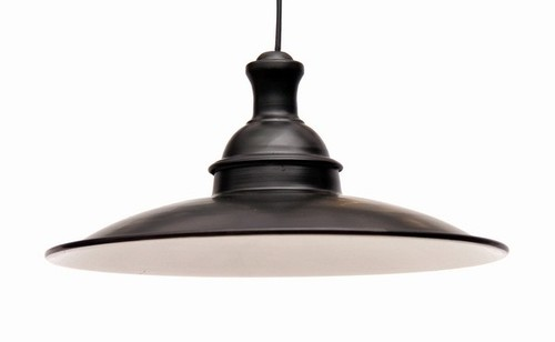 BLACK GLOSSY DINNER PENDANT LAMP