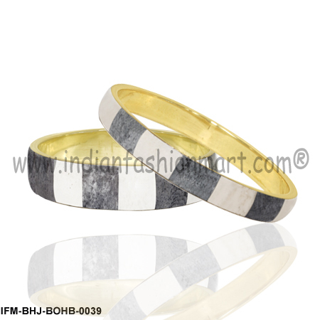 Suave Swathe  -Bone  Bangle set