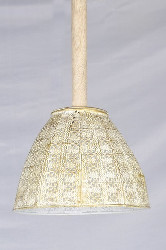 GOLDEN NETTING WOODEN PIPE CEILING LAMP