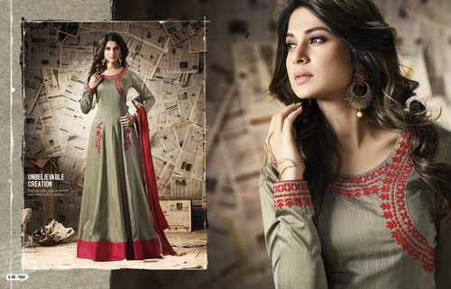 Fancy Silk Anarkali Suits
