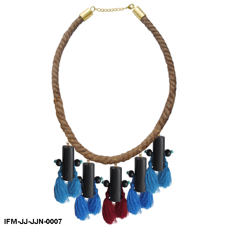 Epicene Charm - Jute Rope Necklace