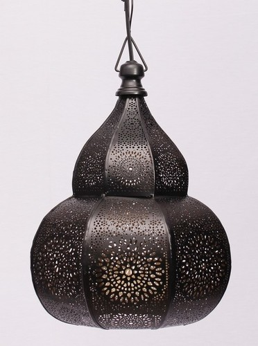 BLACK DOUBLE DOME NETTING HANGING LANTERN