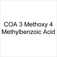 COA 3 Methoxy 4 Methylbenzoic Acid