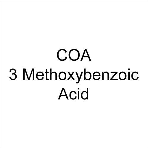 COA 3 Methoxybenzoic Acid