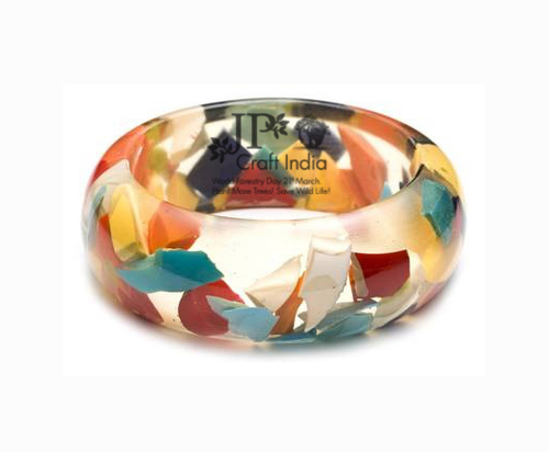 Resin Mix Uncut Trans Bangle