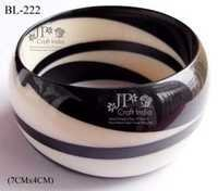 Resin B/W Combination Bangle