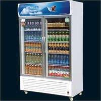Double Aluminium Door Visi Refrigerator