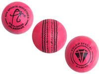 APG Pink Leather Cricket Ball (Kuldip Diamond)