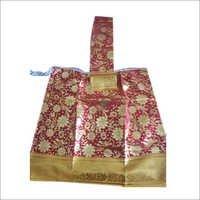 Gold Print God Wearing Saree