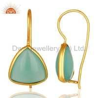 Handmade 925 Silver Gold Plated Earring