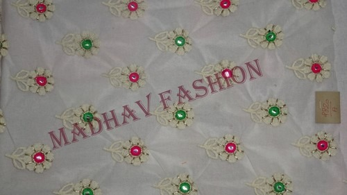 Flower Design Embroidery Fabric