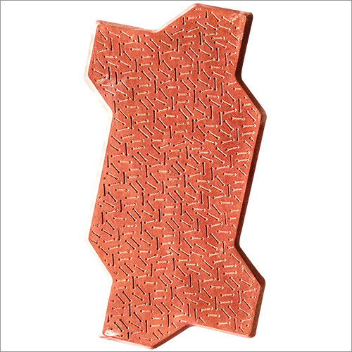 Zebra Interlocking Paver (Color - Red) 80Mm