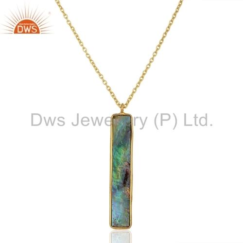 Natural Gemstone 925 Silver Chain Pendant