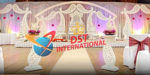 Paisley Decor Fiber Wedding Stage