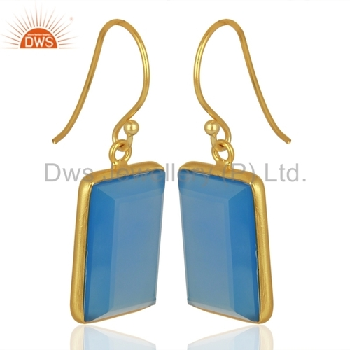 Handmade Gold Plated 925 Silver Drop Earrings