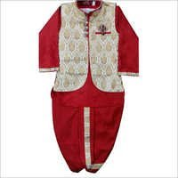 Kids Red Sherwani