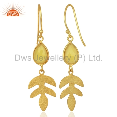 Yellow Gemstone 925 Silver Drop Earrings Manufacturer