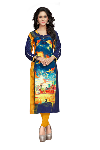 Reyon Cotton Fancy Printed Kurti