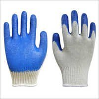 Premium Latex Palm Coated Gloves Blue