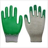 Premium Latex Palm Coated Gloves-Green