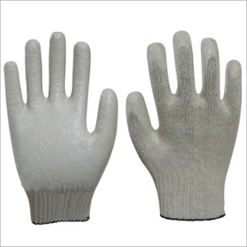 Premium Latex Palm Coated Gloves-White