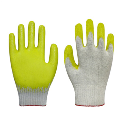 Premium Latex Palm Coated Gloves-Yellow