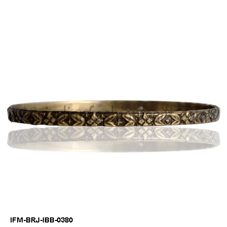 Gentle  Speckle  - Brass Bangle