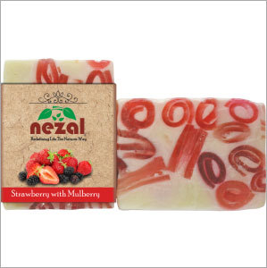 Strawberry & Mulberry Herbal Soap