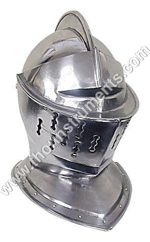 Medieval Knight's Full Size Armor Helmet