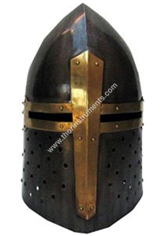 Sugarloaf Style Crusader's Great Helmet Wearable Costume Helmet