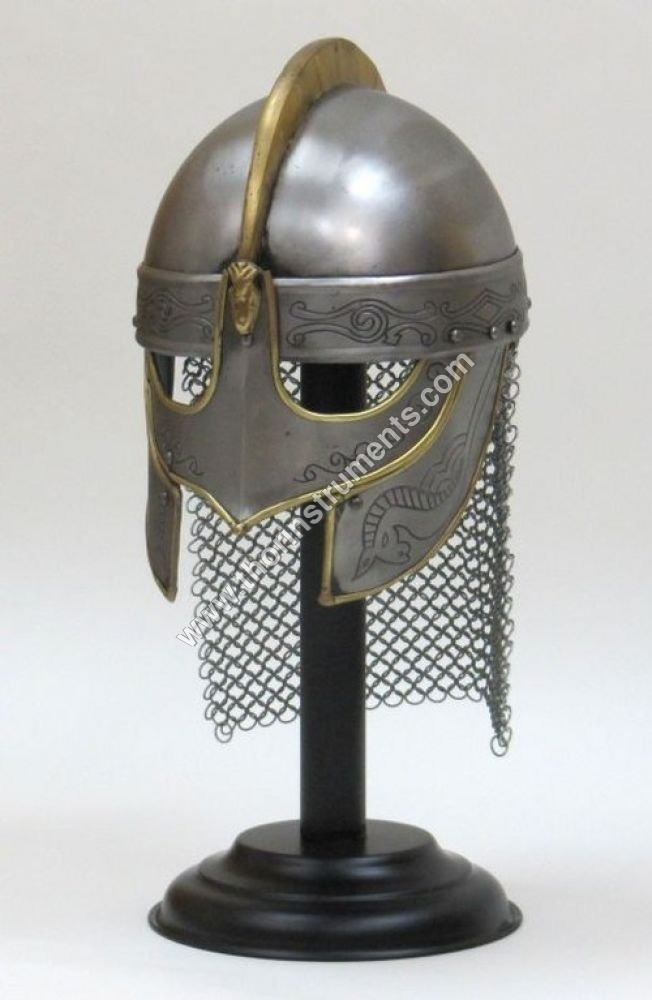 Viking Valas Guard Chain Mail Helmet With Stand