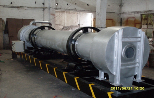 ROTARY DRYER FOR ALUMINUM CHIPS