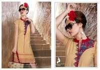 Fancy Chicken Work Cotton Kurtis