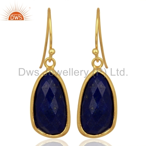 Natural Lapis Lazuli Gemstone Earrings Manufacturer India