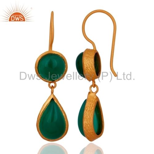 Bezel Set Gemstone 925 Silver Earrings Manufacturer Jaipur
