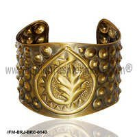 Antique Brass Wrist Cuff