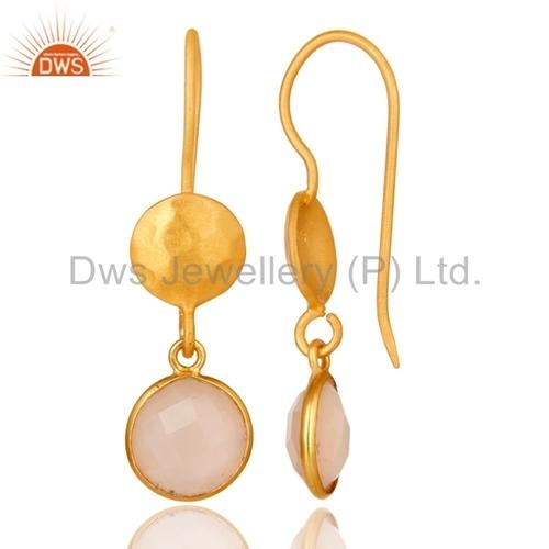 Designer 925 Silver Gold Plated Dangle Earrings Manufacturer