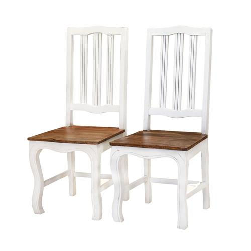 White Natural Wood Restaurant Chair