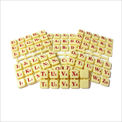 Plastic Cross Word Game Coins