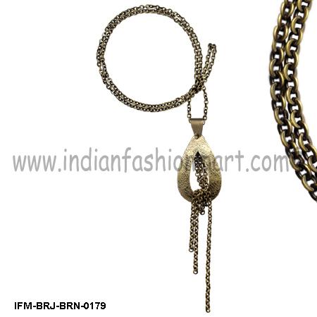 Flavescent  Majesty - Brass Pendant