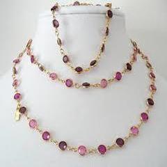 Multi Stone 925 Silver Necklace
