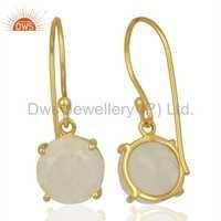 925 Silver Moonstone Earrings Manufacturer from India