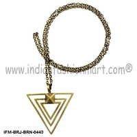 Eudemonic   Brilliance- Brass Necklace