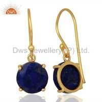 Lapis Lazuli Gemstone 925 Silver Earrings Jewellery Manufacturer