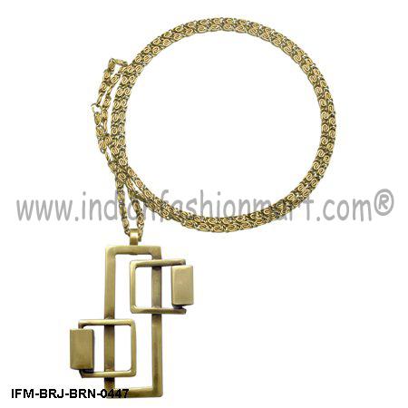 Eudemonic  Charm - Brass Necklace