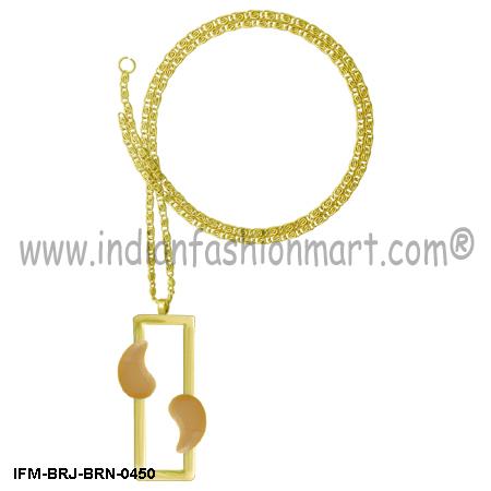 Eudemonic   Mystique - Brass Necklace